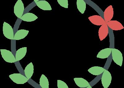 corona de flores floristeria lara ceuta